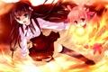 Картинка девушки, огонь, Suminoin Ouka