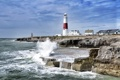 Картинка побережье, маяк, Англия, England, мыс Портленд - Билл, Portland Bill, пролив Ла-Манш