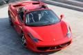 Картинка фары, Ferrari, передок, 458 Italia, red, Spider, спайдер