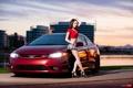 Картинка машина, авто, девушка, girl, Honda, Charles Siritho