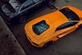 Картинка Audi, Lamborghini, black, orange, Aventador, LP 700-4