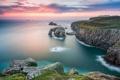 Картинка море, пейзаж, природа, скалы, рассвет