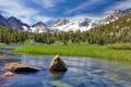 Картинка лес, горы, река, камни, Природа