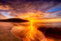 Картинка солнце, острова, океан, африка, мароко