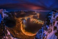 Картинка горы, ночь, огни