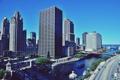 Картинка река, движение, улица, небоскребы, америка, чикаго, Chicago