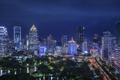 Картинка здания, сад, garden, Бангкок, ночь, Bangkok, Город