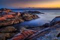 Картинка пляж, камни, рассвет, берег, утро
