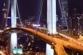Картинка hong kong, Stonecutter Bridge, ночь, мост, Гонконг, огни