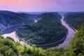 Картинка небо, река, змея, германия, саар