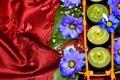 Картинка цветок, романтика, свечи, flower, атлас, romance, candles