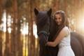 Картинка девушка, настроение, конь