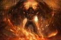 Картинка абстракция, Демон, искры