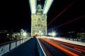 Картинка England, night, ночь, огни, Лондон, Англия, light stream