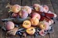 Картинка ягоды, черника, фрукты, персики, ежевика