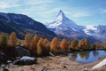 Картинка осень, лес, горы, озеро
