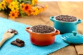 Картинка цветы, стол, еда, шоколад, букет, чаша, крем