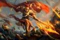 Картинка оружие, огонь, армия, войны, воин, арт, битва