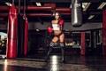 Картинка sexy, model, pose, gloves, gym. boxing