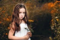 Картинка цветок, взгляд, девочка