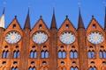 Картинка стена, башня, небо, архитектура