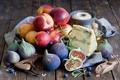 Картинка ягоды, еда, сыр, черника, фрукты, натюрморт, нектарин