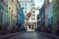 Картинка девушка, город, прыжок, улица, танец, Elisa Virgil