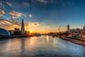 Картинка закат, Thames River, england, лондон, англия, sunset, london