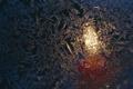 Картинка узоры, свеча, стекло, мороз, пламя