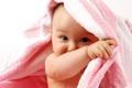 Картинка взгляд, полотенце, малыш