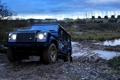 Картинка Вечер, Грязь, Джип, Фары, Land Rover, Внедорожник, Defender