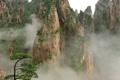Картинка горы, туман, дерево, растительность, Китай