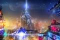 Картинка ночь, город, реклама, Sci-Fi