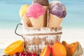 Картинка апельсин, черника, мороженое, черешня, дыня