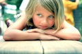 Картинка глаза, фото, ребенок, голубые, девочка, царапина