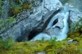 Картинка вода, горы, скалы, водопад, поток