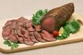 Картинка запечённое, baked, slice, мясо, помидор, зелень, tomato