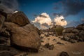Картинка песок, небо, облака, природа, камни