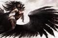 Картинка арт, Guild Wars 2, крылья, девушка, ангел