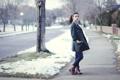 Картинка зима, макияж, пальто, Katie JoAnne