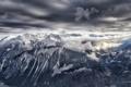 Картинка горный хребет, панорама, природа, зима, снег, горы, озеро