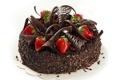 Картинка сладость, шоколад, клубника, тортик, chocolate, strawberry, sweet cake
