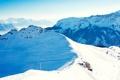 Картинка зима, лес, небо, снег, пейзаж, горы, природа