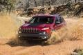 Картинка песок, машина, пыль, Jeep, Cherokee, Trailhawk, в стороны
