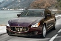 Картинка дорога, Maserati, Quattroporte, передок