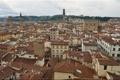 Картинка крыша, небо, дома, Италия, панорама, Флоренция, дворец Палаццо Веккьо