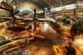 Картинка самолет, истребитель, hdr, ангар, пропеллер, музей