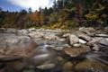 Картинка осень, пейзаж, река, камни