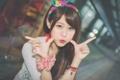 Картинка восточная девушка, жесты, мимика