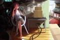 Картинка девушка, комната, робот, future